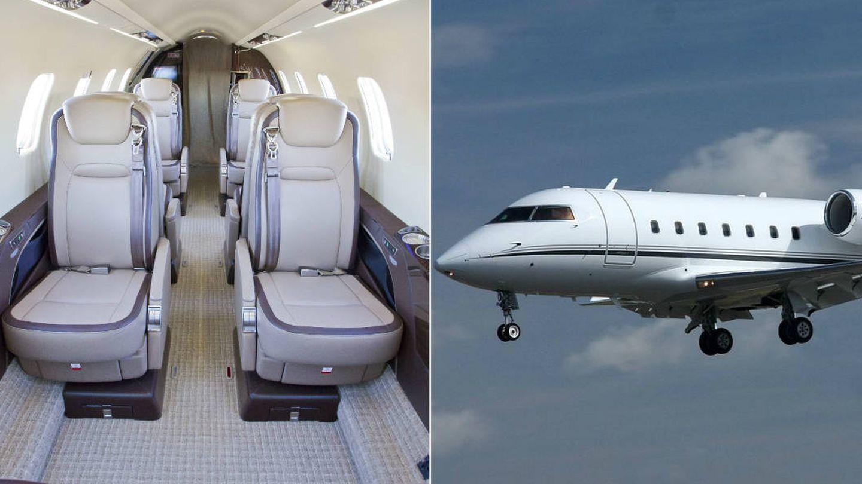 Learjet 60.