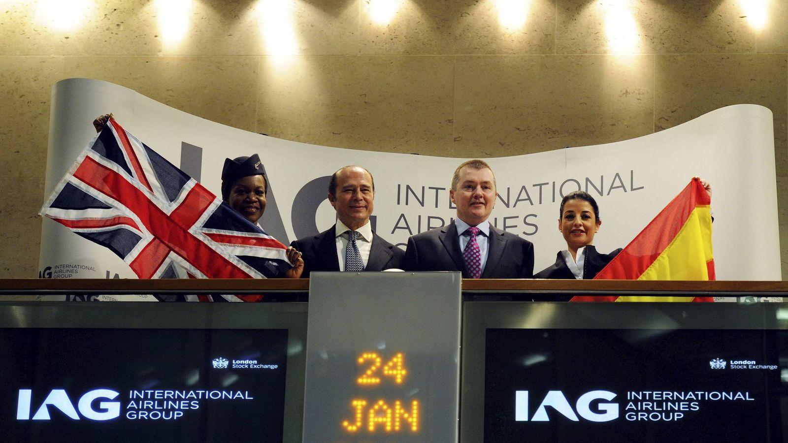 Foto: Debut de IAG en bolsa en 2011 (EFE)