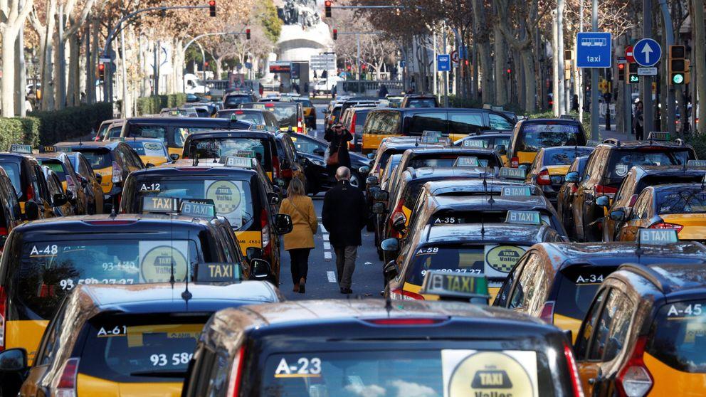 La huelga de taxis de Barcelona se extiende a otras ciudades catalanas
