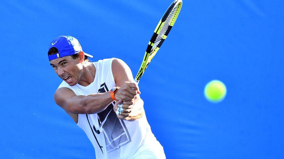 Foto: Rafa Nadal, en un entrenamiento en Brisbane. (EFE)