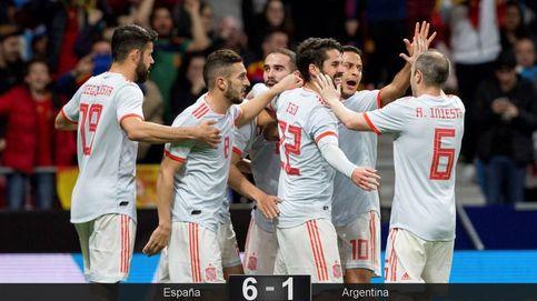 Messi mira con envidia cómo España juega al fútbol que él más disfruta