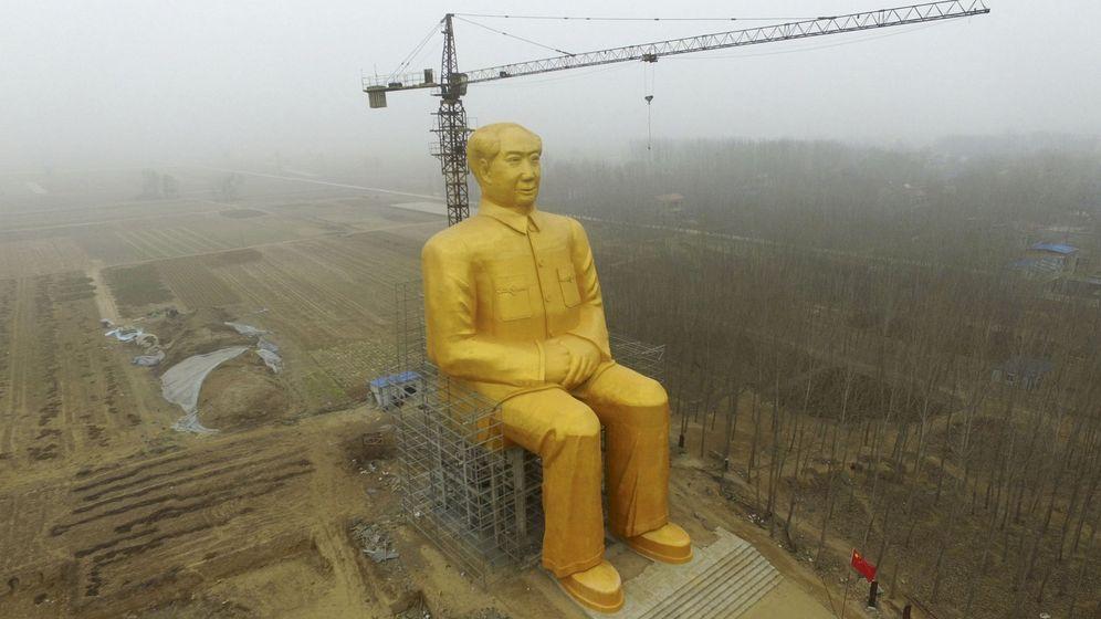 Foto: Estatua gigante de 36,6 metros de altura del presidente Mao erigida en Tongxu, en la provincia central china de Henan (Reuters)