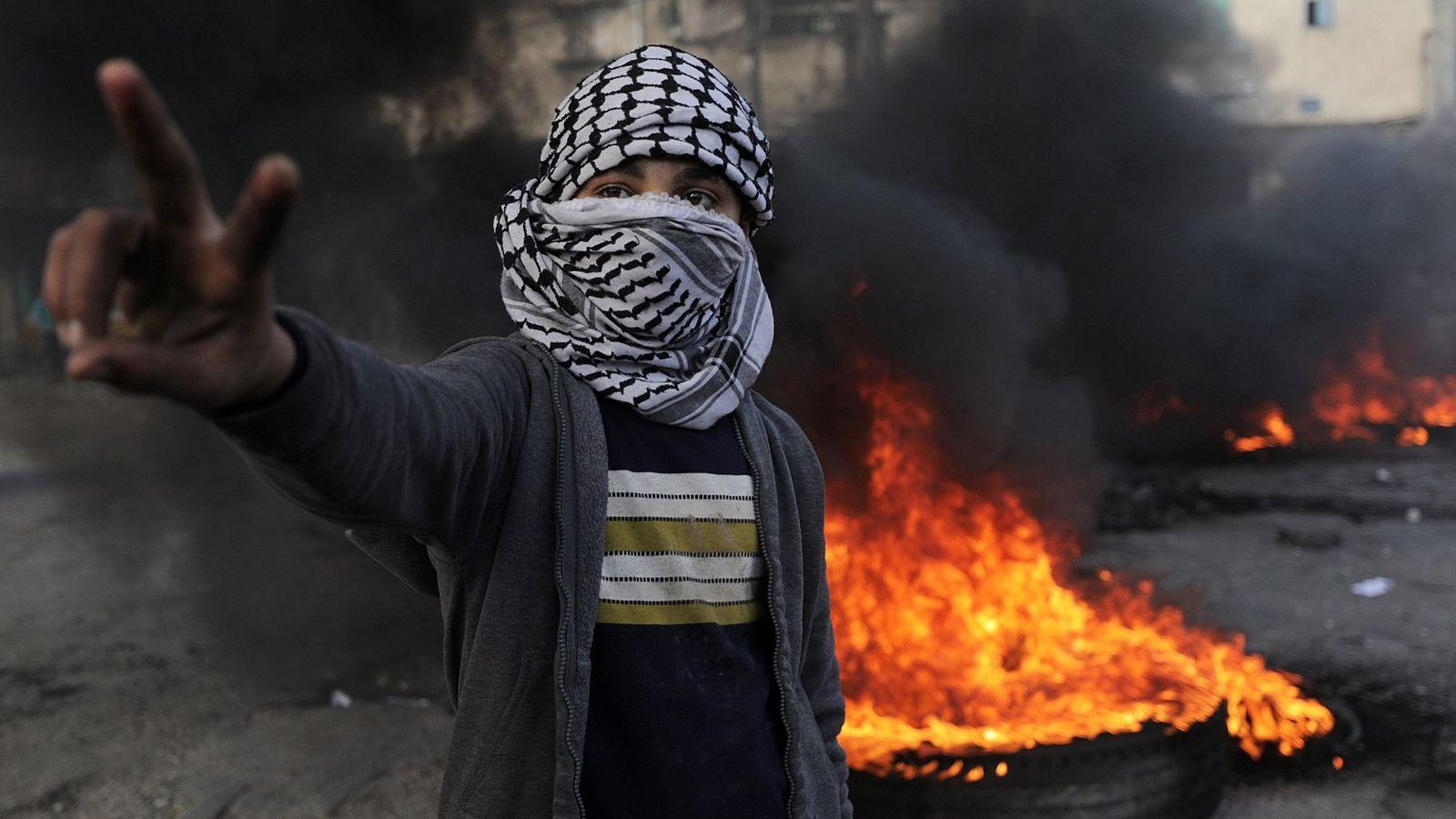 Foto: Protestas contra Trump e Israel en Gaza este viernes. (EFE)