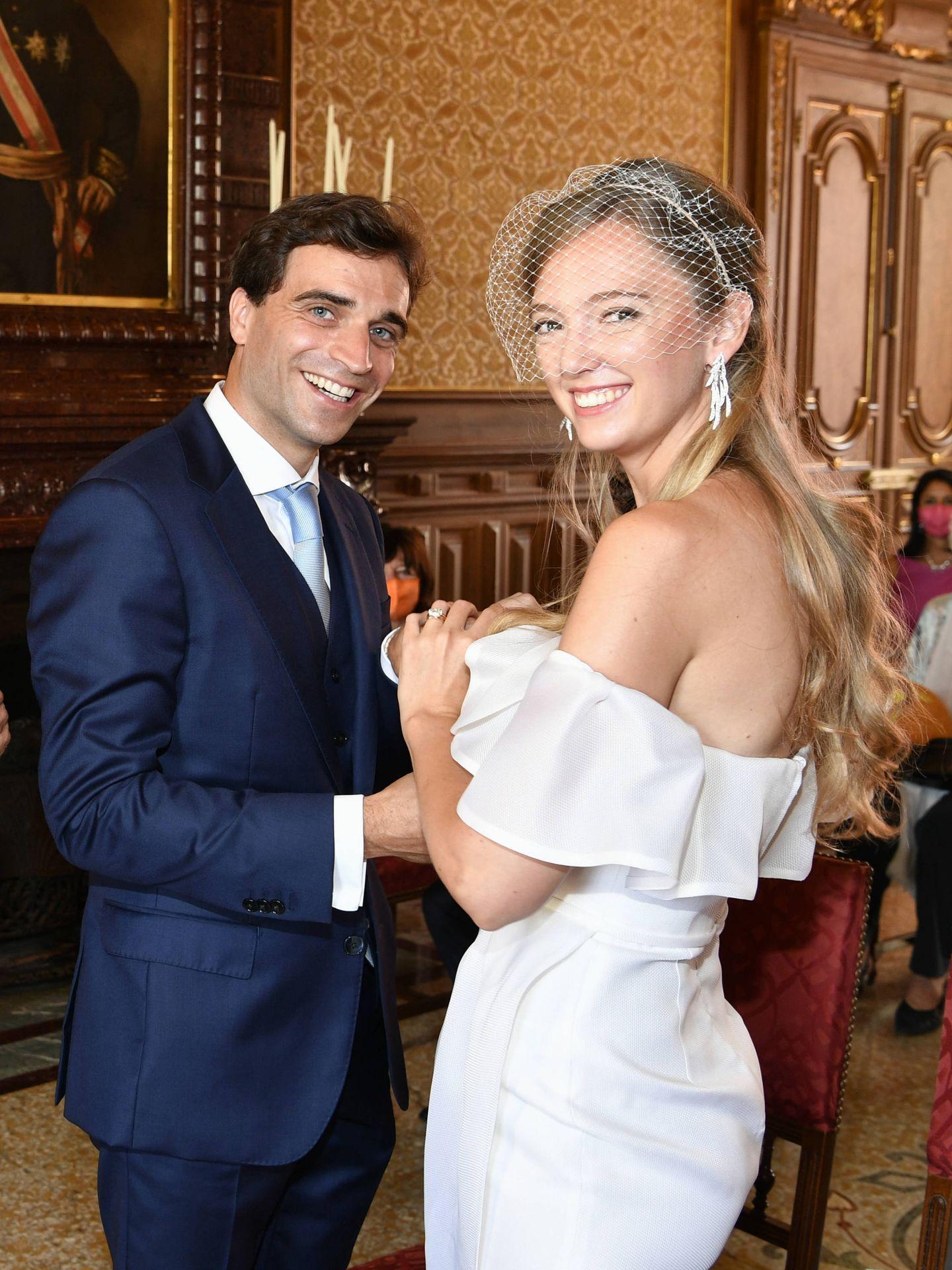 Los recién casados. (Getty)