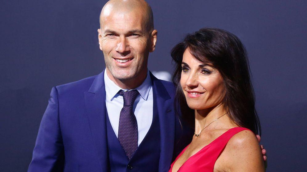 Foto: Zinedine Zidane y su esposa, Veronique Fernández. (Getty)