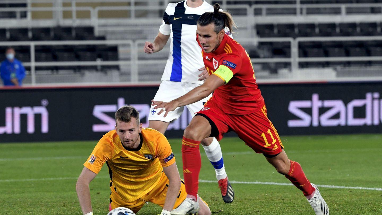 Bale durante el partido de su Selección contra Finlandia. (Efe)