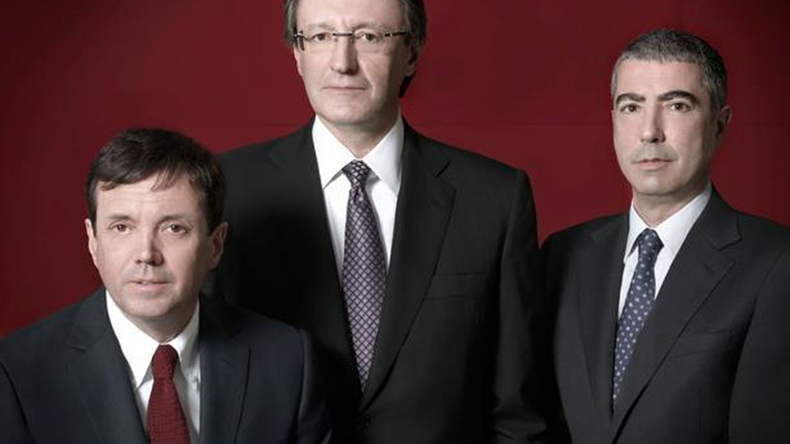 Foto: Ramón Cierco, Higini Cierco y Joan Pau Miquel, la excúpula de BPA.