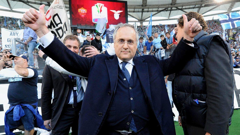 Foto: Claudio Lotito es el protagonista del último episodio vergonzoso de los presidentes de fútbol italianos (EFE).