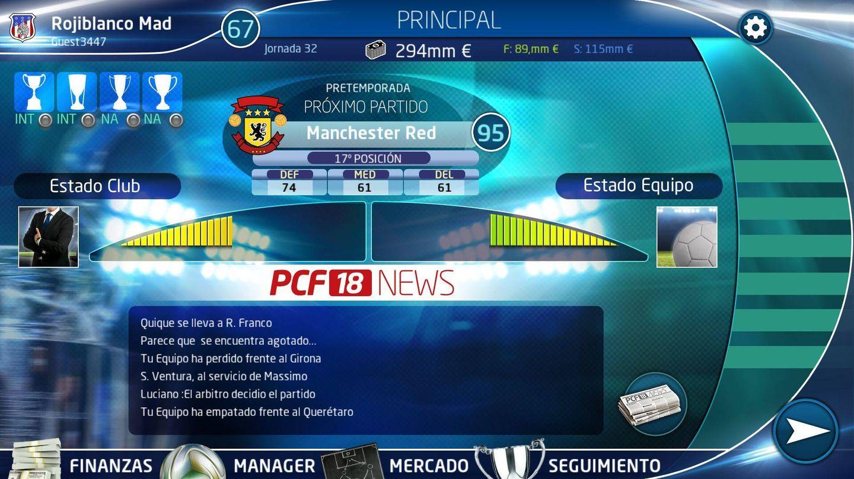 Imagen del PC Fútbol 18