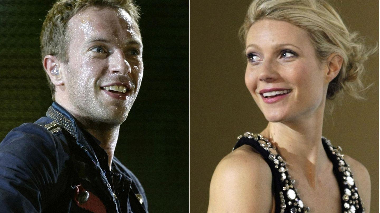 Chris Martin y Gwyneth Paltrow, en dos fotos de archivo. (REUTERS)