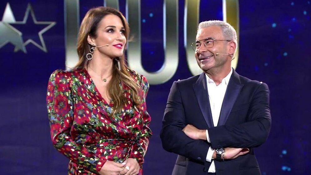 Foto: Paula Echevarría y Jorge Javier Vázquez. (Telecinco)