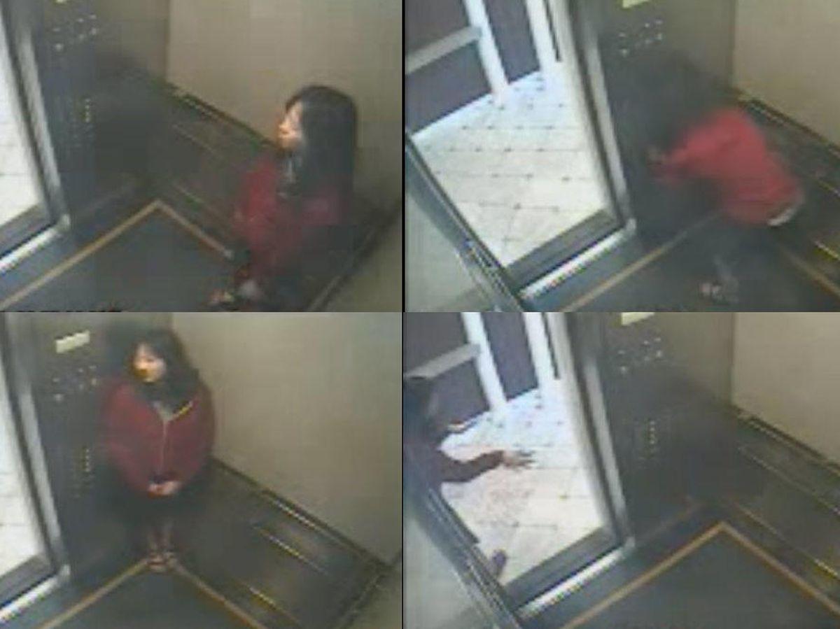 Foto: Elisa durante el perturbador vídeo del Cecil Hotel