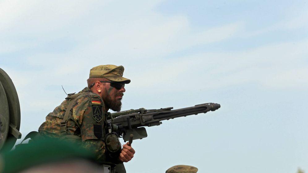 Foto: Un soldado alemán durante unas prácticas conjuntas en Lituania. (Reuters)