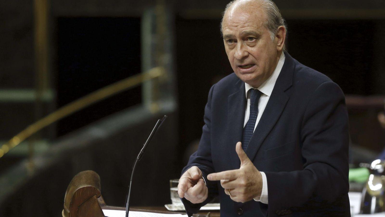 Foto: El ministro del Interior, Jorge Fernández Díaz, en el Congreso. (EFE)