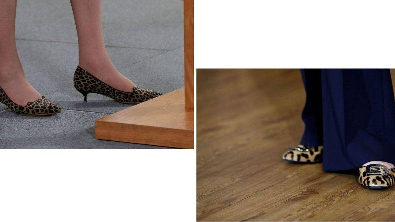 Los zapatos de May, a poder ser de leopardo. (Reuters)
