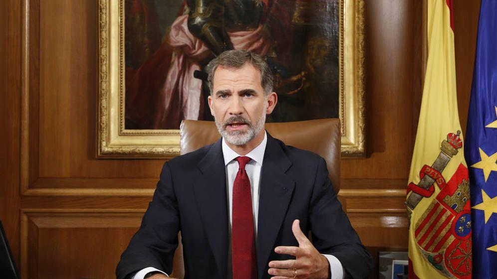 Foto: Mensaje del rey Felipe VI a los españoles sobre Cataluña. (EFE)