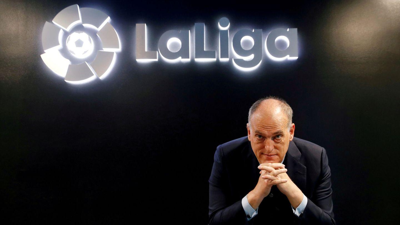 Javier Tebas, durante un evento de LaLiga. (Reuters)