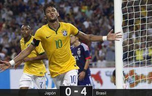 El mejor Neymar marca 4 goles a Japón y mete miedo al Real Madrid