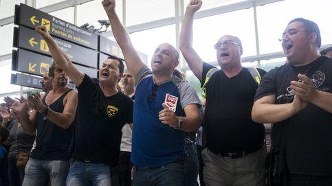 Los vigilantes de El Prat convocarán nuevos paros si el laudo no cumple sus expectativas
