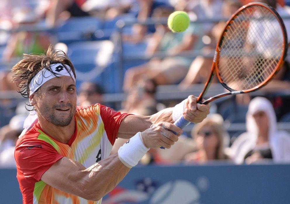 Foto: David Ferrer disputando el partido ante Damir Dzumhur en el US Open (Efe).
