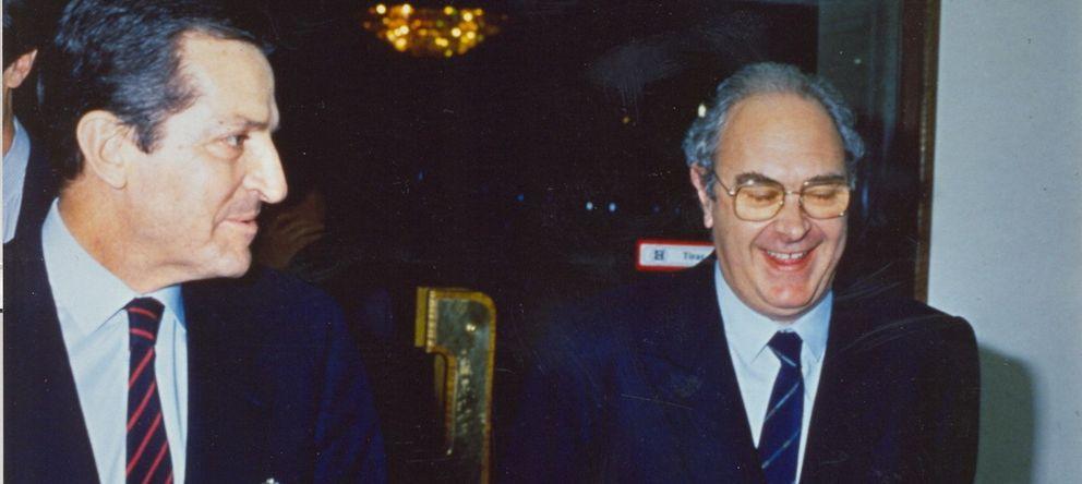 Foto: Adolfo Suárez, con José Luis Sanchis.
