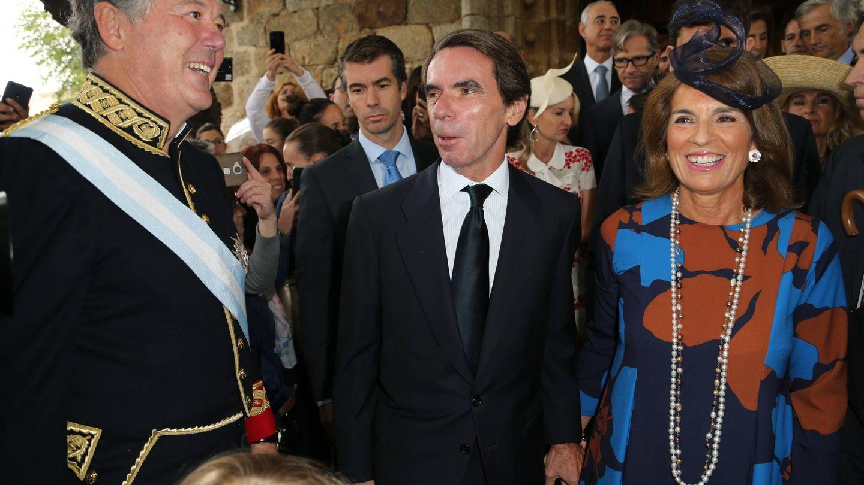Michavila con los Aznar. (José Martín)