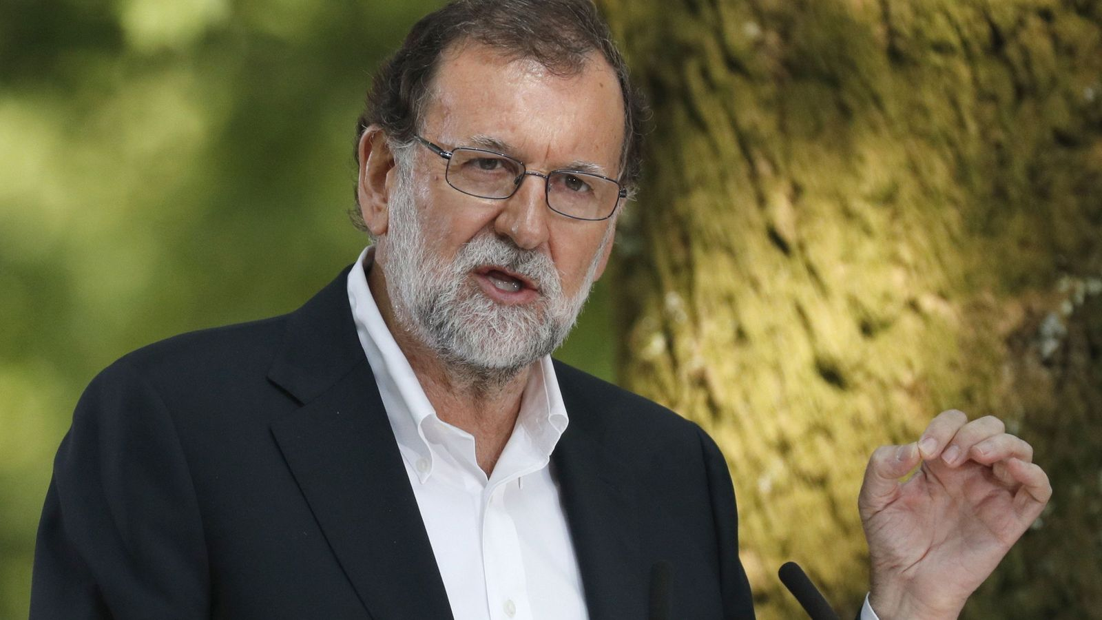 Foto: El presidente del Gobierno, Mariano Rajoy, durante su intervención en el acto con el que el partido Popular dio comenzo al curso político. (EFE)