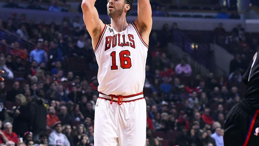 Pau Gasol brilla y, con otro 'doble-doble', coloca a los Bulls segundos en la Central