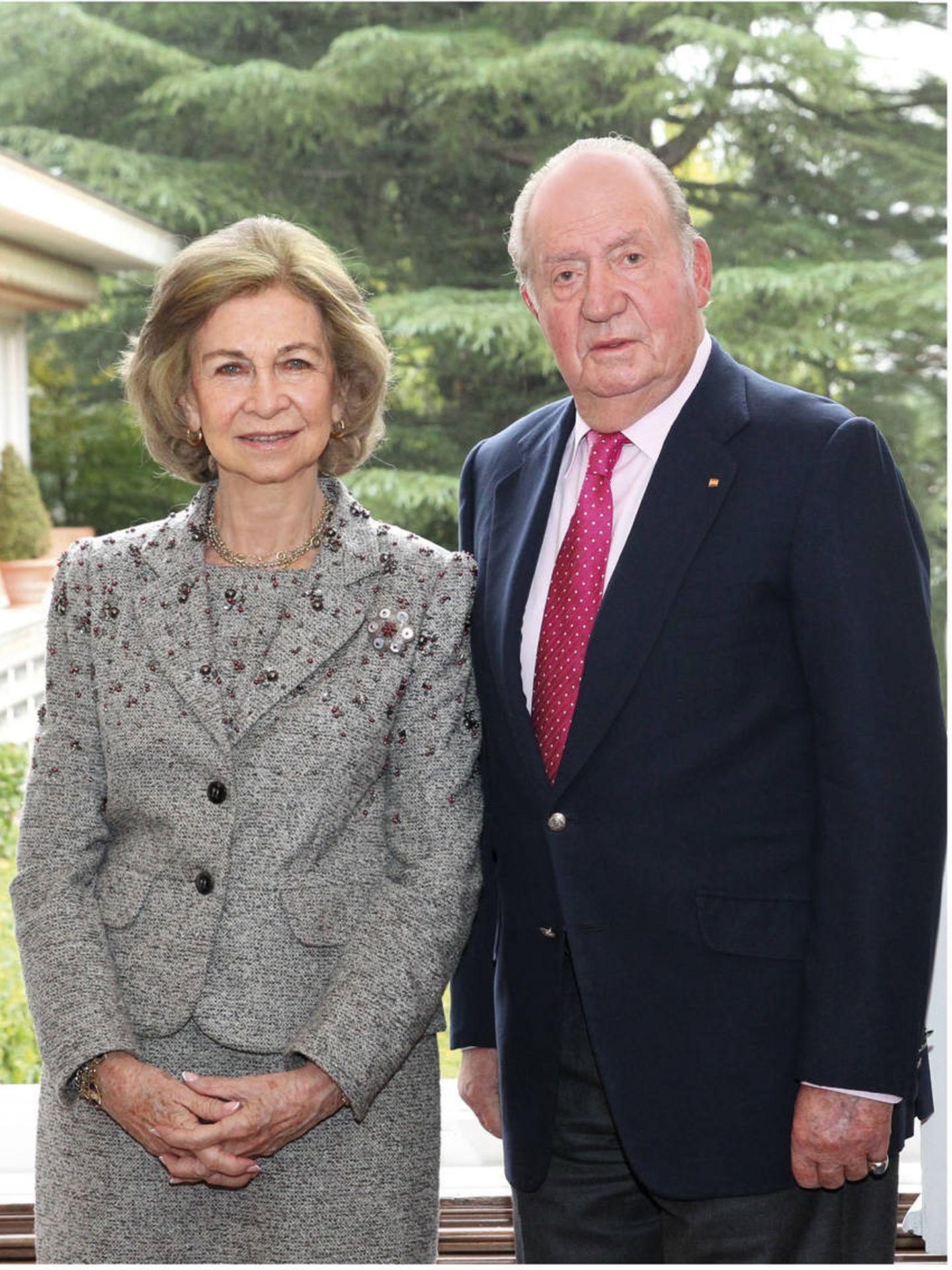 Los reyes Juan Carlos y Sofía en su felicitación navideña.