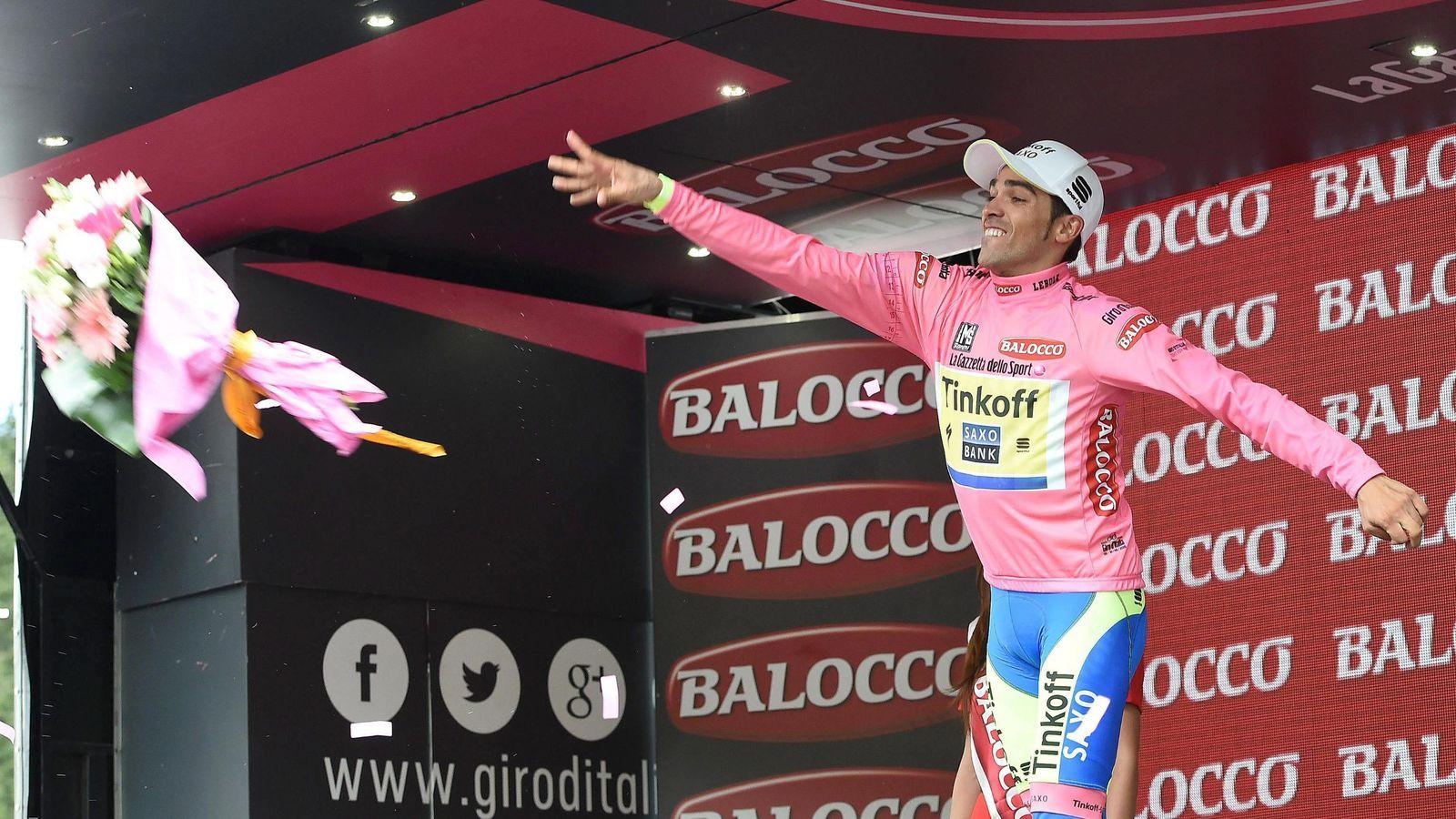 Foto: Alberto Contador se ha adueñado del Giro una semana antes de que acabe (EFE).