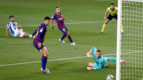 El único espectáculo de un Barça horrible fueron los fuegos artificiales de fuera (1-0)
