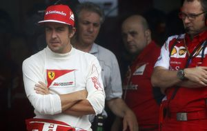 Alonso se va tranquilo sabiendo que esto es lo que hay en su Ferrari