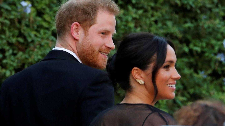 Los duques de Sussex, en la boda de su amiga Misha Nonoo. (Reuters)