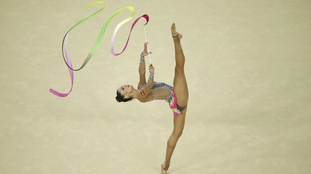 Foto: Carolina Rodriguez durante la prueba de cinta (Ruben Sprich/REUTERS)