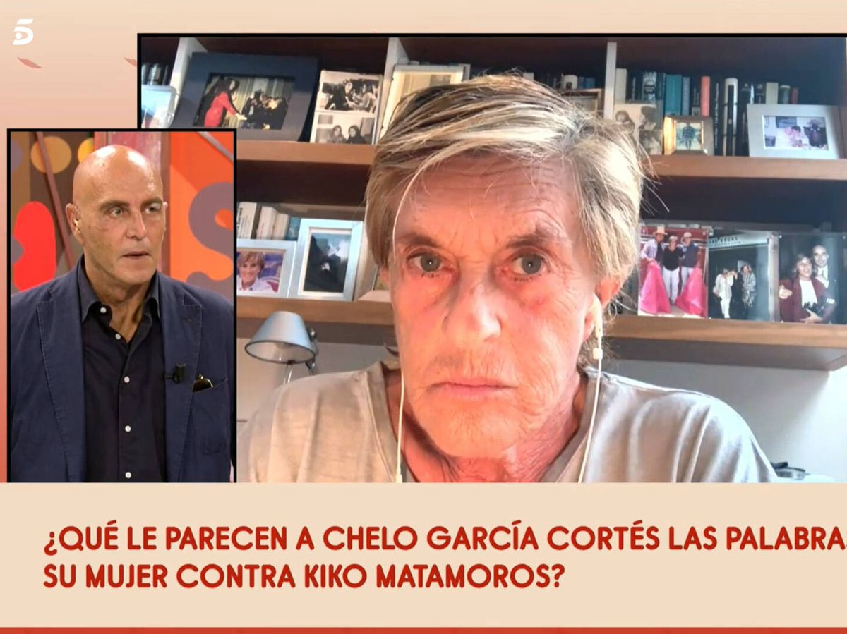Foto: Kiko Matamoros, Chelo y Gema López, en 'Sálvame'. (Telecinco)