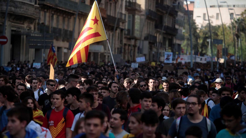 Manifestación estudiantil en Barcelona. (EFE)