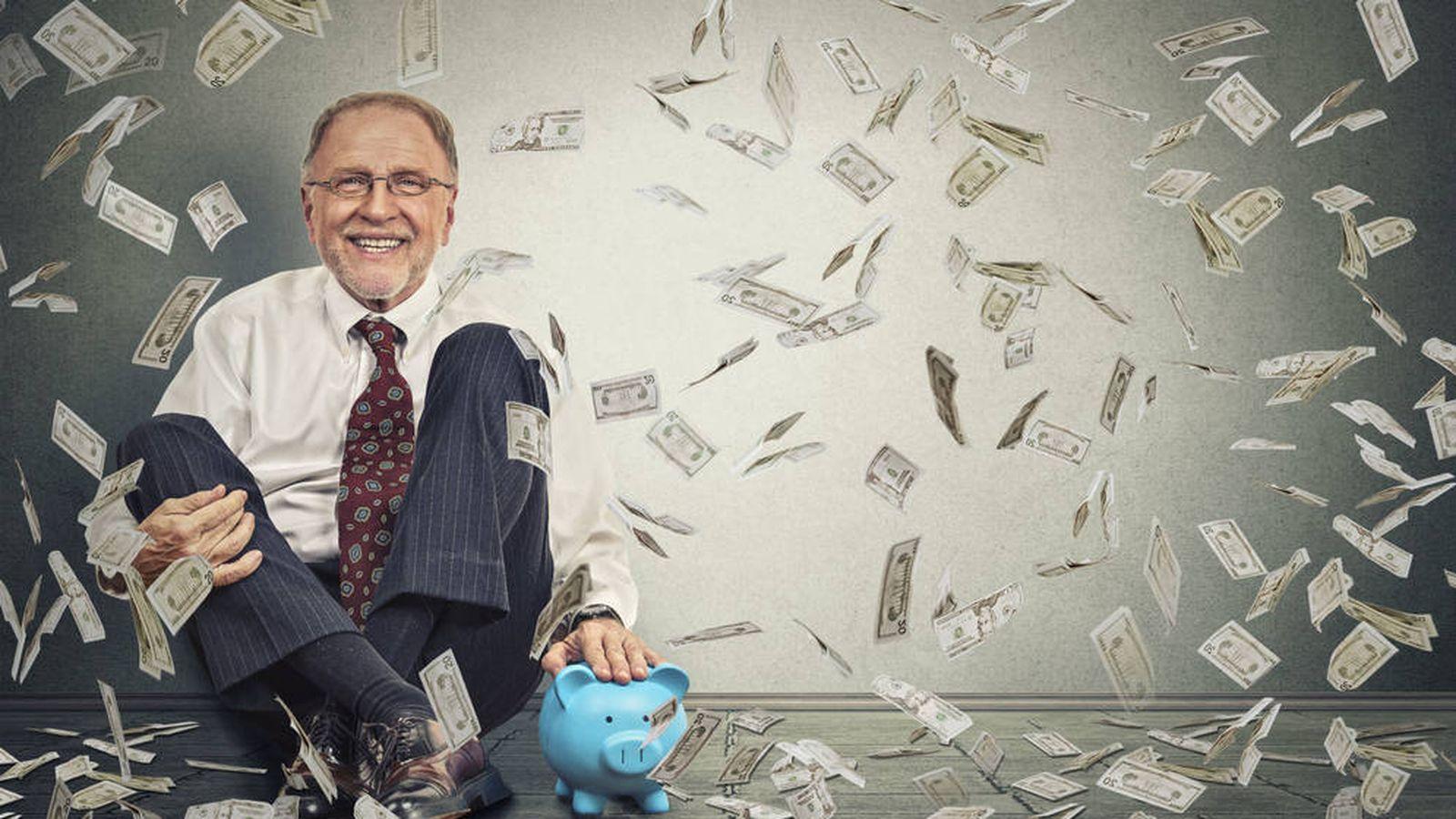 Foto: Un accionista disfrutando de sus dividendos.