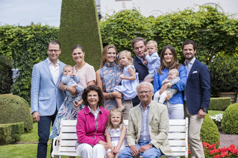 Foto: Posado de la familia real de Suecia