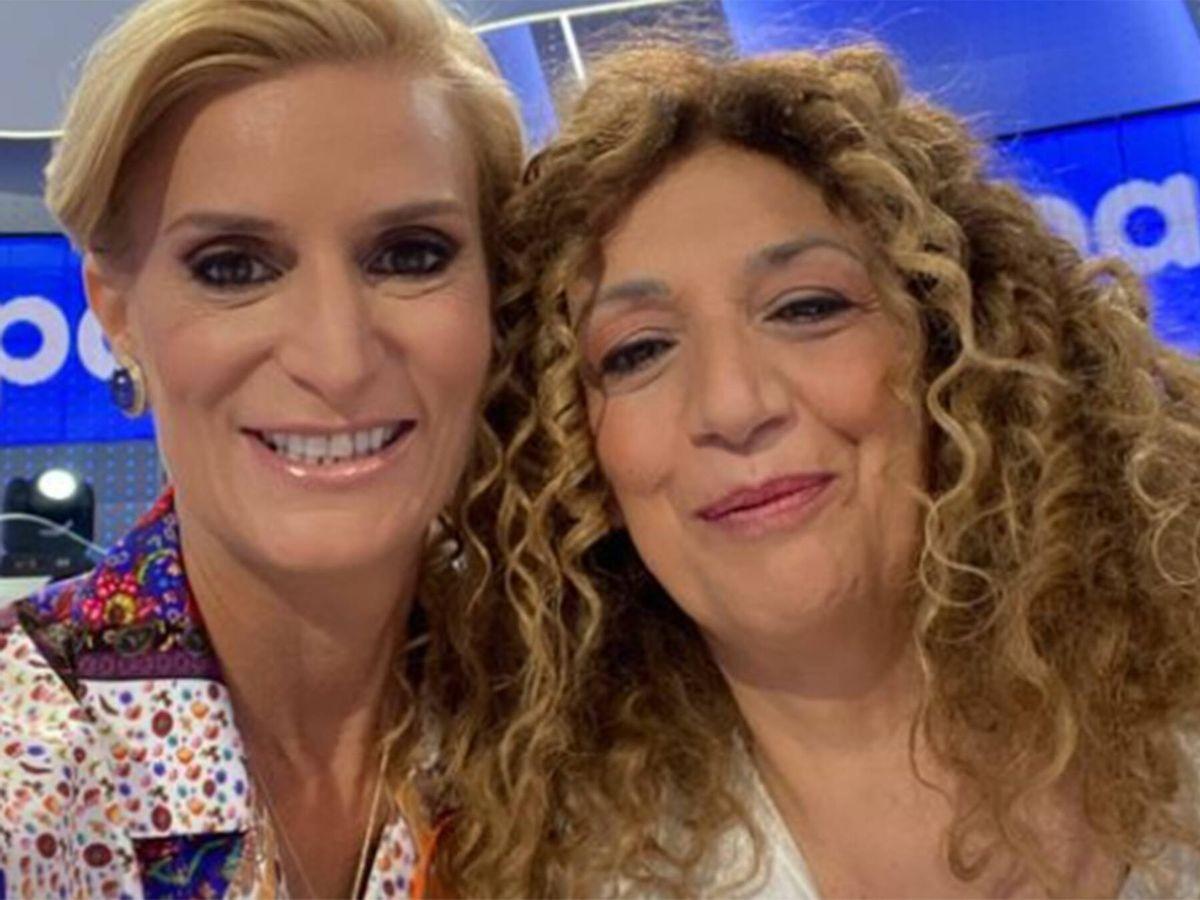 Foto: María Zurita y Sofía Álvarez ('Pasapalabra') posan en redes sociales. (Instagram @mariazuritaborbon)