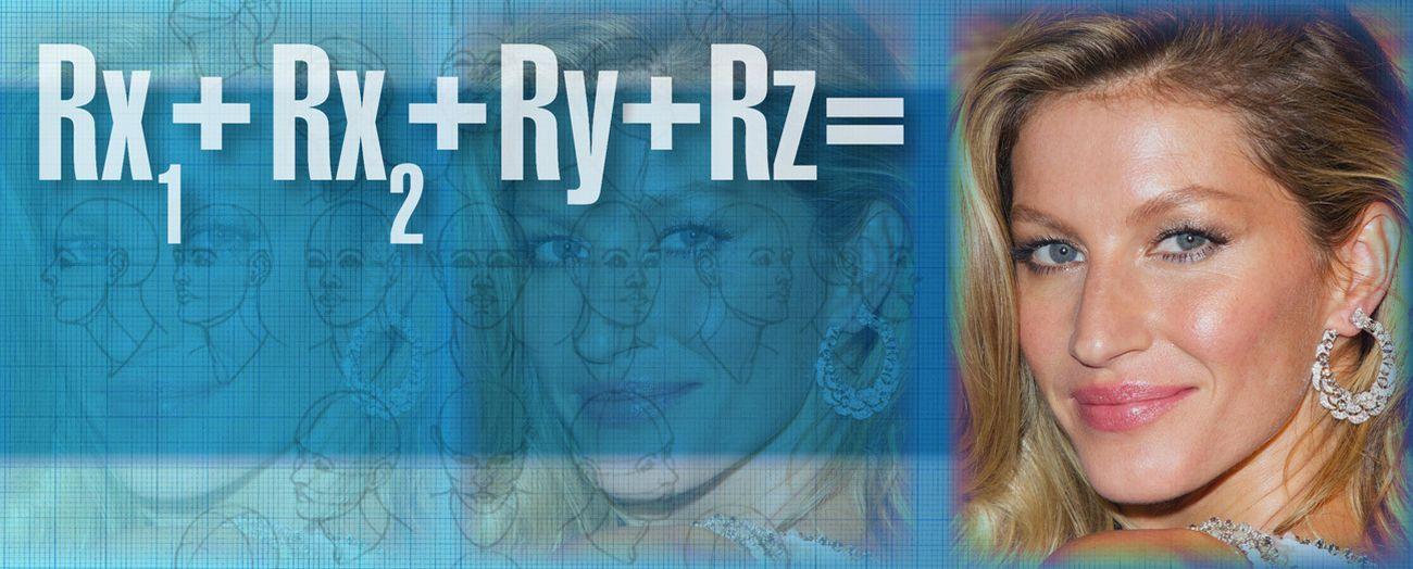 Foto: La fórmula matemática del dr. Amselem para el rejuvenecimiento perfecto del rostro
