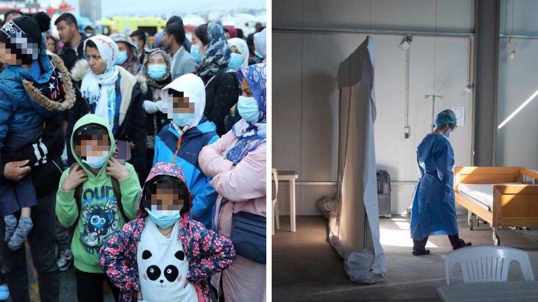 Foto: MSF, obligada a cerrar el centro de aislamiento para pacientes de covid-19 próximo a Moria, donde está el mayor campamento de refugiados de Europa (Reuters/MSF)