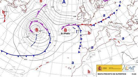 El ciclón tropical Pablo hace historia al convertirse en huracán a la altura de Galicia