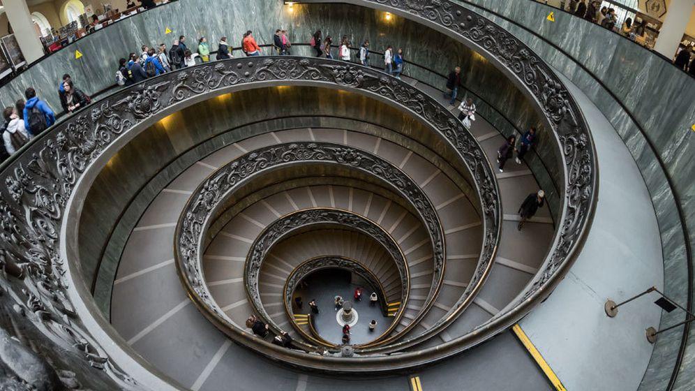 Foto: La escalera de Bramante, en los Museos Vaticanos