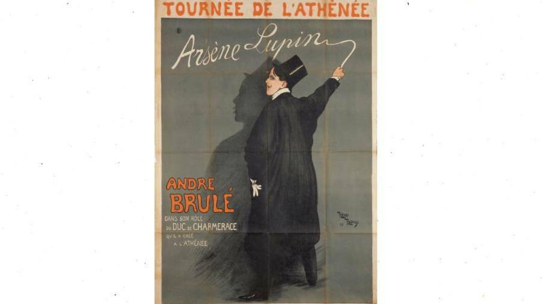 Cartel de Tournée de l'Athénée. (Arséne Lupin)