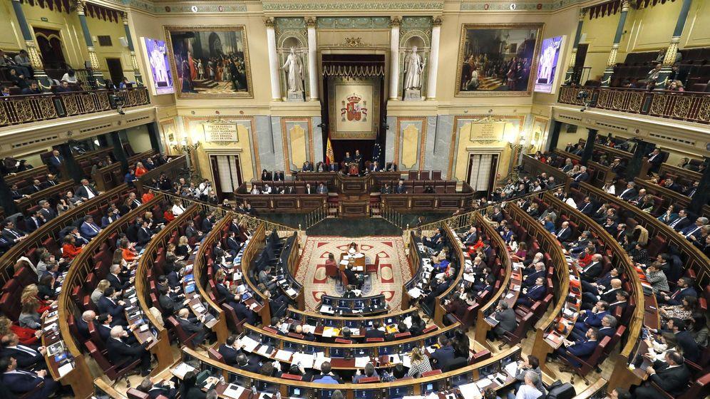 Foto: El Congreso de los diputados en la sesión constitutiva de las Cortes. (EFE)