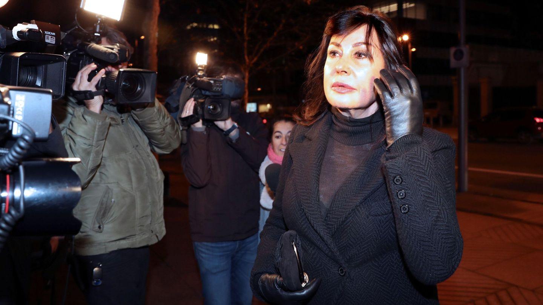 Carmen Martínez-Bordiú, en el último adiós a su madre. (EFE)