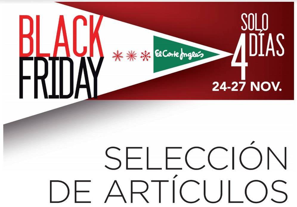 Foto: El Corte Inglés se suma al Black Friday