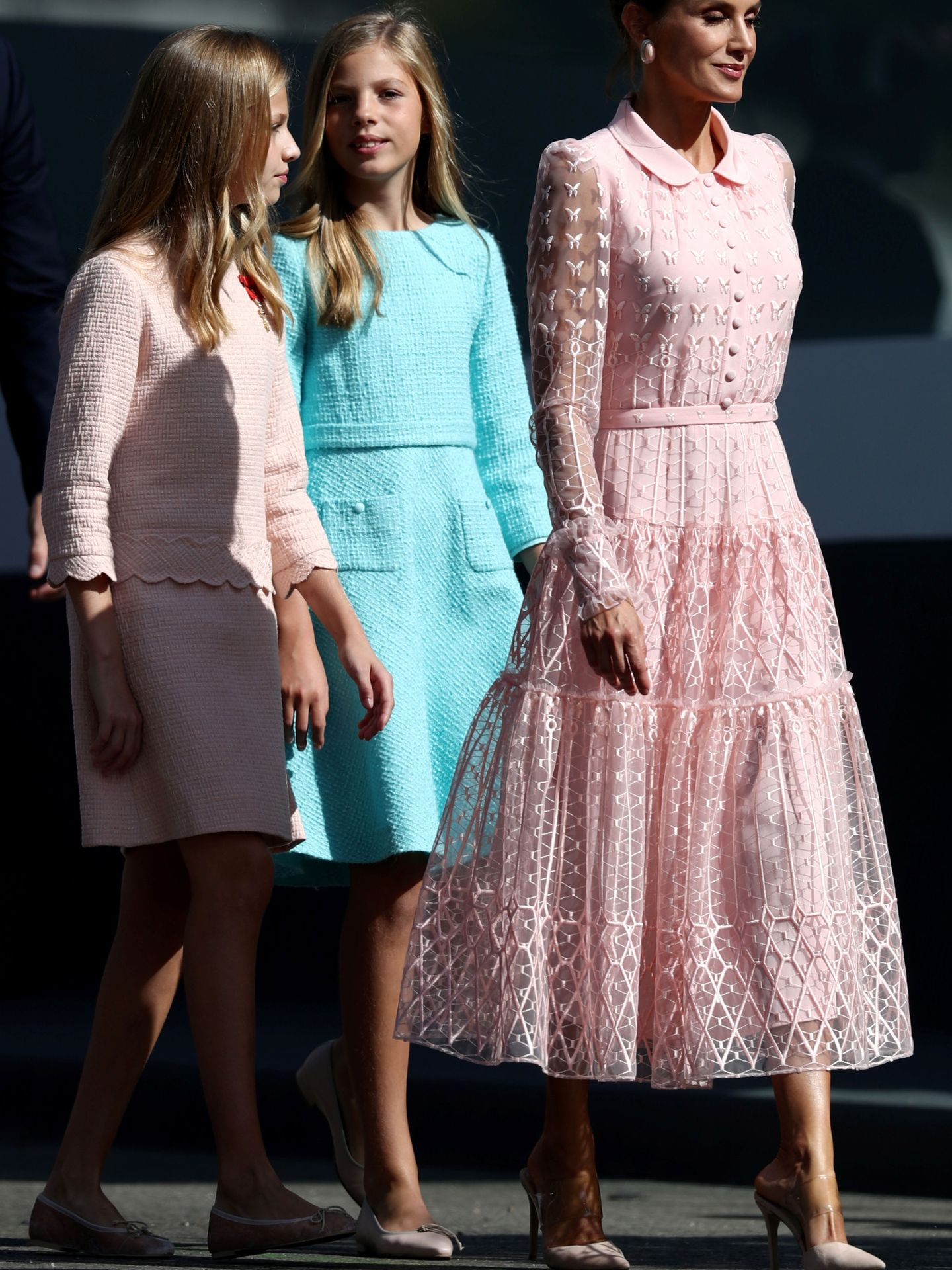 Las hermanas en la Fiesta Nacional. (Reuters)