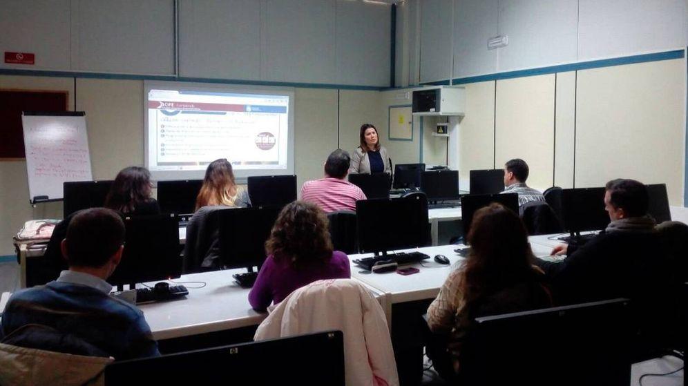 Foto: María José Sánchez Martín, en uno de los cursos del CIFE.