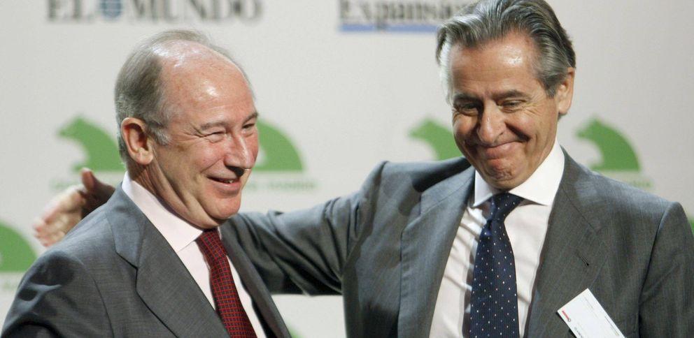 Foto: El presidente de Caja Madrid, Miguel Blesa (dcha) junto al exdirector gerente del FMI Rodrigo Rato (Efe)